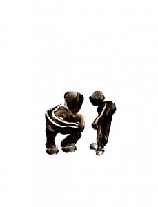 BLACK-SWINGS-IXX,-2009-Acrylic-on-paper-21-x-29,5-cm