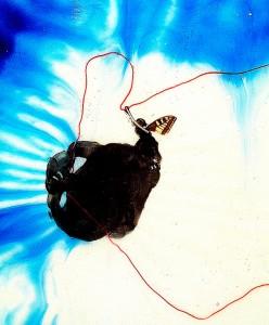BLUE-LANDSCAPE-III,-2008-Acrylic-on-polyurethane-70-x-40-cm