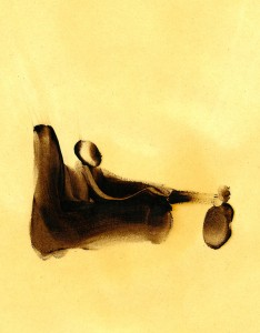 BRUME-V,-2009-Acrylic-and-varnish-on-paper-21-x-29,5-cm