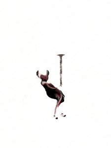 CRUTCHES-IV,-2010-Acrylic-and-wine-on-paper-21--x-29,5-cm