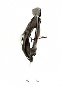 CRUTCHES-VI,-2010-Acrylic-and-wine-on-paper-21--x-29,5-cm