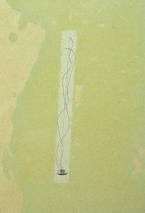GLASSHAIR VII 1994 Resina de poliester  y collage 24,5 x 17 x 2,5 cm