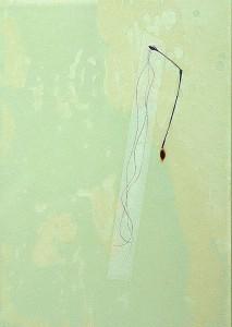 GLASSHAIR XIV 1994 Resina de poliester  y collage 24,5 x 17 x 2,5 cm