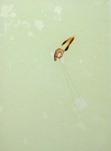 GLASSHAIR XVI 1994 Resina de poliester  y collage 24,5 x 17 x 2,5 cm