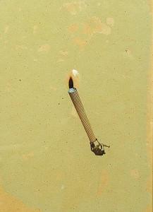 GLASSLENS XV 1997 Resina de poliester cristal collage 12 x 29,7 x 3 cm