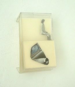 METHACRYLATE I 1995 Plastico collage 12 x 9 x 7 cm