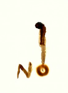 NO-I-,--1994-Acrylic-and-fire-on-paper-21-x-29,5-cm