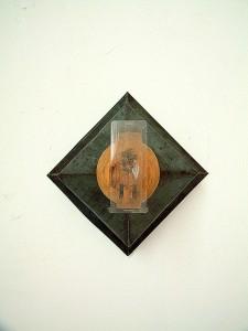 OBJET-TROUVE-IV-Switzerland-1991-iron-wood-plastic-collage-19-x-19-x-14-cm
