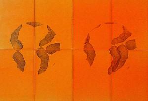 PLANISPHERE-I,-1993-Varnish-and-ink-on-wood-50-x-25-x-3-cm