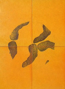 PLANISPHERE-IV,-1993-Varnish-and-ink-on-wood-30-x-15-x-3-cm
