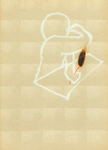 READERS-IV,-1993-Acrylic-and-fire-on-plastic-28,5-x-13-cm