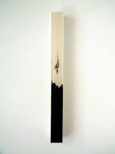 SALTO-NEGRO-II-2011-Resina-de-poliester-y-collage-6-x-55-x-6-cm