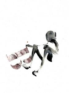 SEATS-III,-2010-Acrylic-and-wine-on-paper-21--x-29,5-cm