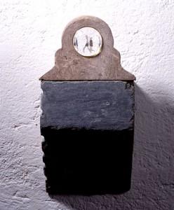 SEMEUR-ETERNEL-XVII-Switzerland-1991-iron-stone-plastic-collage-45-x-19-x-14-cm