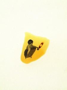 SHOOTER-1996-Resina-de-poliester-y-collage-45-x-65-cm