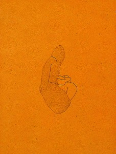 SOLO-LIVING-FINGER-II-1993-Varnish-and-ink-on-wood--21-x-30-x-3-cm