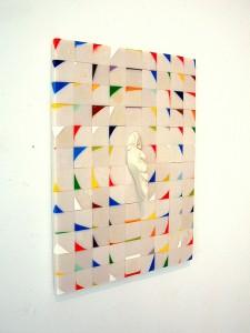 SOPLADOR DE ESQUINAS 2011 Resina de poliester. 60 x 80 x 7 cm