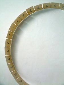 SUIT DU TEMPS.(detalle) 1995. Metacrilato, plomo y parafina. 200 x 200 x 16 cm