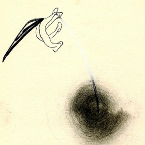 WHIRLWIND-I,-1991-Graphite-and-coal-on-paper-28-x-20-cm