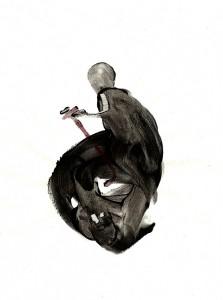 WORK-III,-2010-Acrylic-and-wine-on-paper-21--x-29,5-cm
