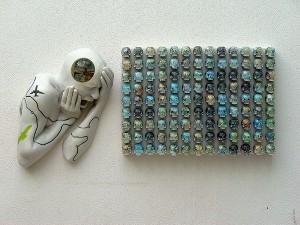 BALAMUNDI-2009-Resina-de-poliester-cristal-collage-atlas-56-x-105-x-18-cm