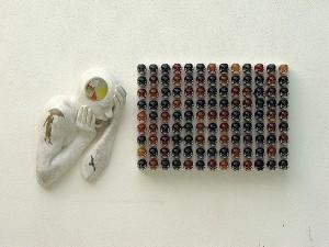 ENCRESPADOS-2009-Resina-de-poliester-cristal-collage-cabello-humano-56-x-105-x-18-cm