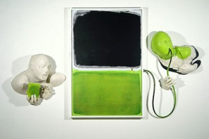 GREEN BLACK GLUP 2006 Resina de poliester e imagen digital  102 x 175 x 20 cm