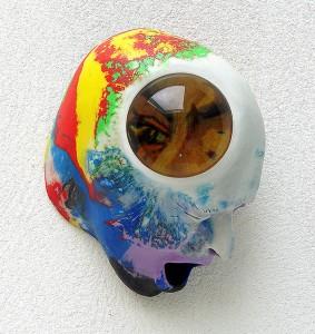 LA-NOTTE-STELLATA-I-2009-resina-de-poliester-cristal-collage-20-x-265-x-16-cm