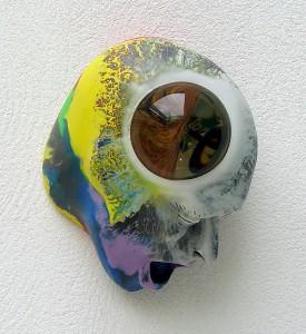 LA-NOTTE-STELLATA-II-2009-resina-de-poliester-cristal-collage-20-x-265-x-16-cm