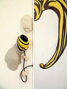 ROYGLUP 2006 (detalle) Resina de poliester e imagen digital  185 x 200 x 19 cm